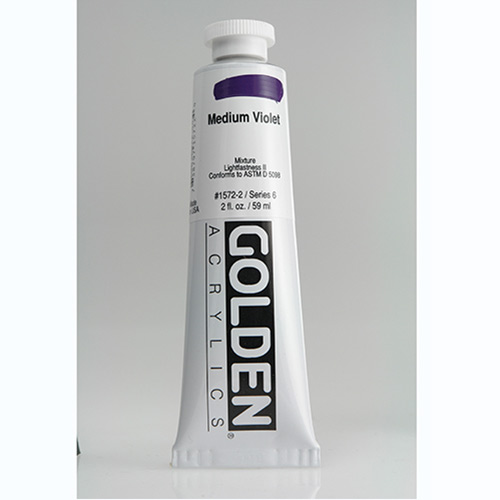 Golden Heavy Body Acrylic Paint 2oz_Medium Violet