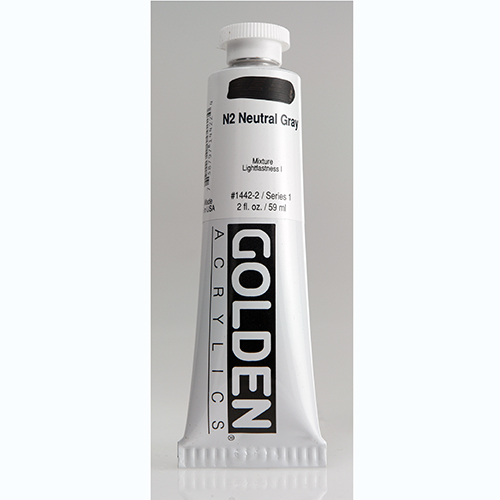 Golden Heavy Body Acrylic Paint 2oz_N2 Neutral Grey