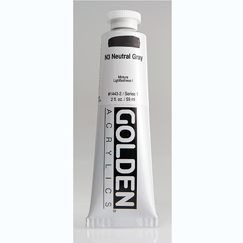 Golden Heavy Body Acrylic Paint 2oz_N3 Neutral Grey