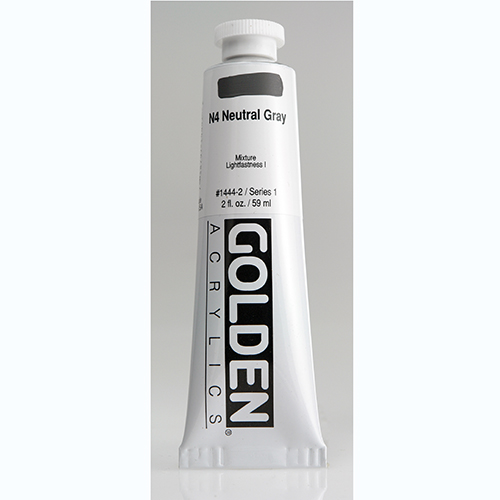 Golden Heavy Body Acrylic Paint 2oz_N4 Neutral Grey