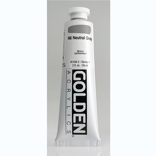 Golden Heavy Body Acrylic Paint 2oz_N6 Neutral Grey