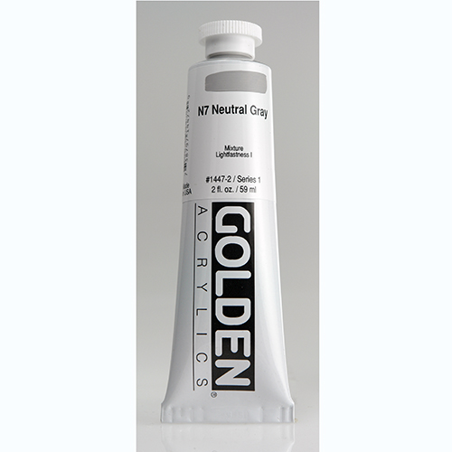 Golden Heavy Body Acrylic Paint 2oz_N7 Neutral Grey