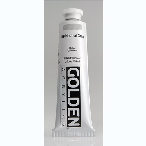 Golden Heavy Body Acrylic Paint 2oz_N8 Neutral Grey