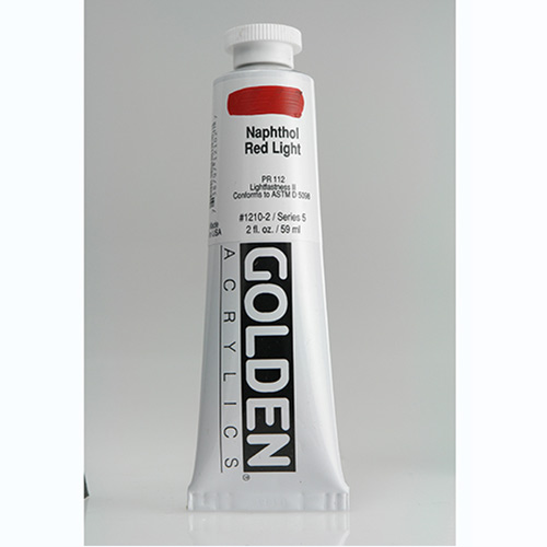 Golden Heavy Body Acrylic Paint 2oz_Naphthol Red Light