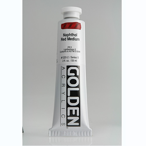 Golden Heavy Body Acrylic Paint 2oz_Naphthol Red Medium