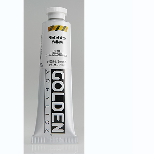 Golden Heavy Body Acrylic Paint 2oz_Nickel Azo Yellow
