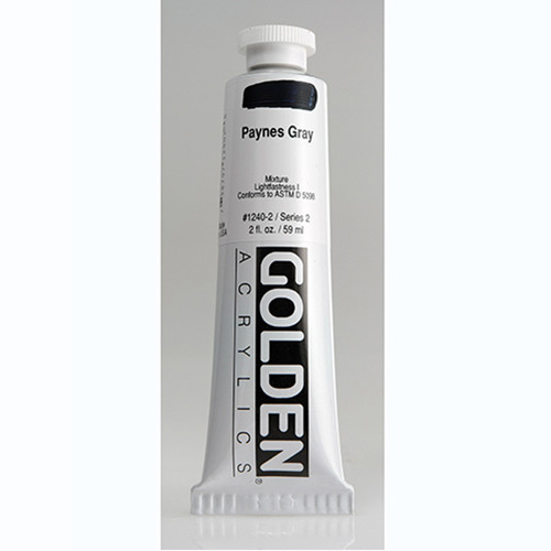 Golden Heavy Body Acrylic Paint 2oz_Paynes Grey