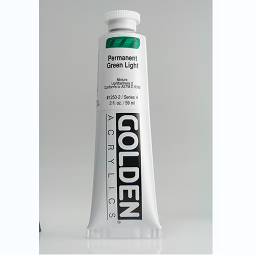 Golden Heavy Body Acrylic Paint 2oz_Permanent Green Light