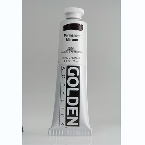 Golden Heavy Body Acrylic Paint 2oz_Permanent Maroon