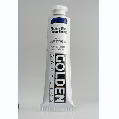 Golden Heavy Body Acrylic Paint 2oz_Phthalo Blue (Green Shade)