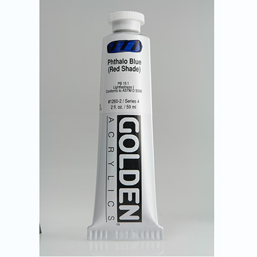 Golden Heavy Body Acrylic Paint 2oz_Phthalo Blue (Red Shade)