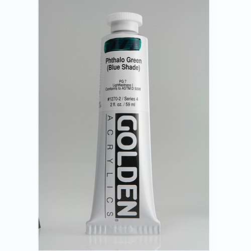 Golden Heavy Body Acrylic Paint 2oz_Phthalo Green (Blue Shade)