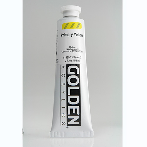 Golden Heavy Body Acrylic Paint 2oz_Primary Yellow