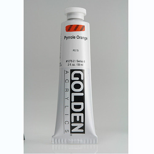 Golden Heavy Body Acrylic Paint 2oz_Pyrrole Orange