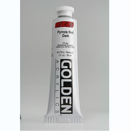 Golden Heavy Body Acrylic Paint 2oz_Pyrrole Red Dark