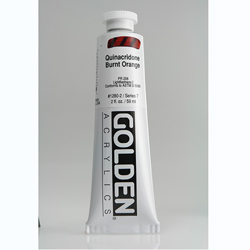 Golden Heavy Body Acrylic Paint 2oz_Quinacridone Burnt Orange