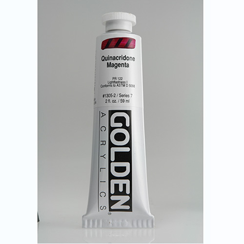 Golden Heavy Body Acrylic Paint 2oz_Quinacridone Magenta