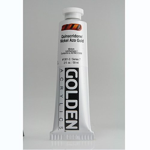 Golden Heavy Body Acrylic Paint 2oz_Quinacridone Nickel Azo Gold