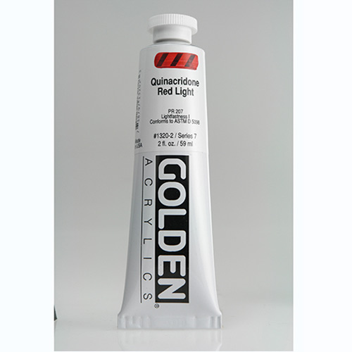 Golden Heavy Body Acrylic Paint 2oz_Quinacridone Red Light