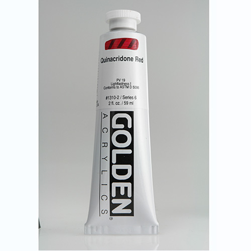 Golden Heavy Body Acrylic Paint 2oz_Quinacridone Red
