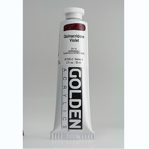 Golden Heavy Body Acrylic Paint 2oz_Quinacridone Violet