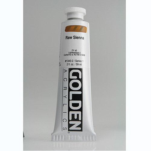 Golden Heavy Body Acrylic Paint 2oz_Raw Sienna