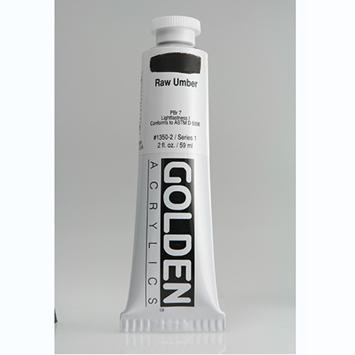 Golden Heavy Body Acrylic Paint 2oz_Raw Umber
