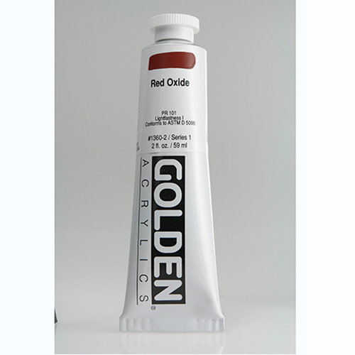 Golden Heavy Body Acrylic Paint 2oz_Red Oxide