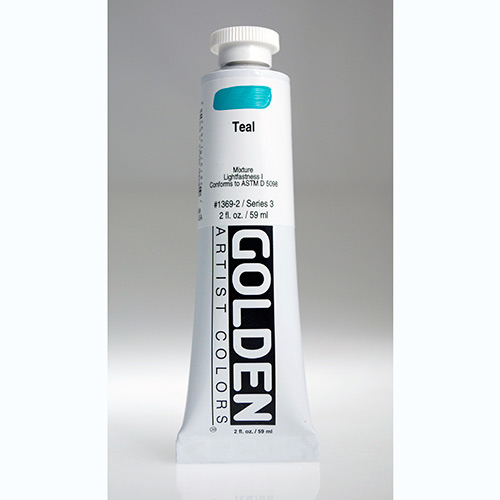Golden Heavy Body Acrylic Paint 2oz_Teal