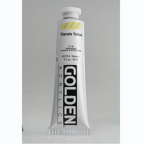 Golden Heavy Body Acrylic Paint 2oz_Titanate Yellow