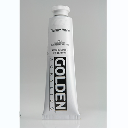 Golden Heavy Body Acrylic Paint 2oz_Titanium White