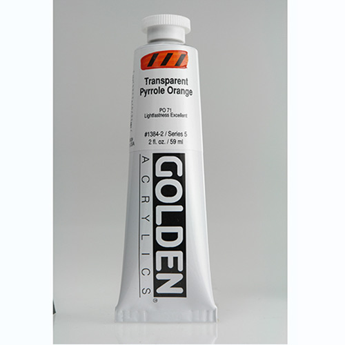 Golden Heavy Body Acrylic Paint 2oz_Transparent Pyrrole Orange
