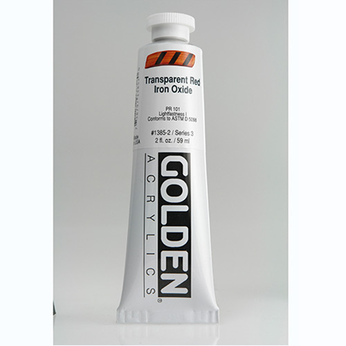 Golden Heavy Body Acrylic Paint 2oz_Transparent Red Iron Oxide