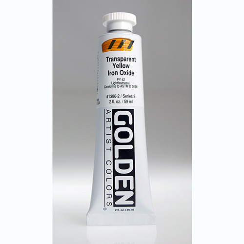 Golden Heavy Body Acrylic Paint 2oz_Transparent Yellow Iron Oxide