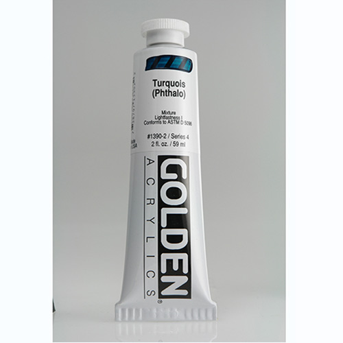 Golden Heavy Body Acrylic Paint 2oz_Turquoise (Phthalo)