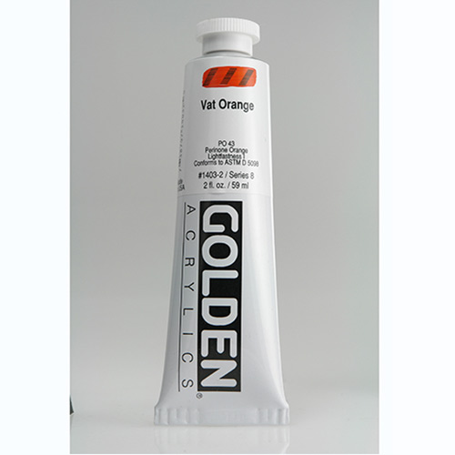 Golden Heavy Body Acrylic Paint 2oz_Vat Orange