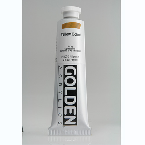 Golden Heavy Body Acrylic Paint 2oz_Yellow Ochre