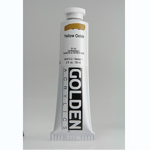 Golden Heavy Body Acrylic Paint 2oz_Yellow Oxide