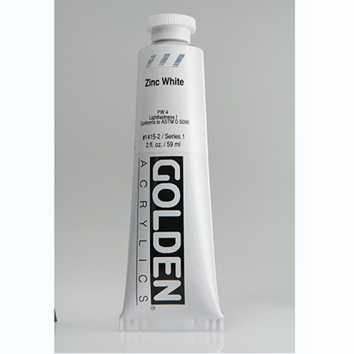 Golden Heavy Body Acrylic Paint 2oz_Zinc White