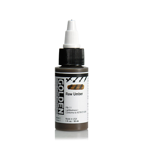 Golden High Flow Acrylic Paint 1oz_Raw Umber
