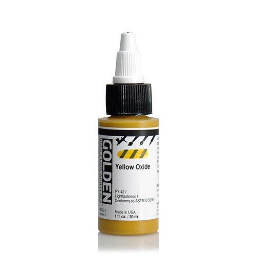 Golden High Flow Acrylic Paint 1oz_Yellow Oxide
