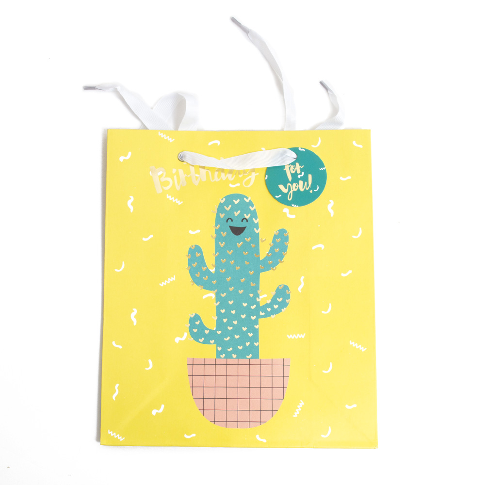Graphique, Closeout, Giftbag, Birthday Cactus