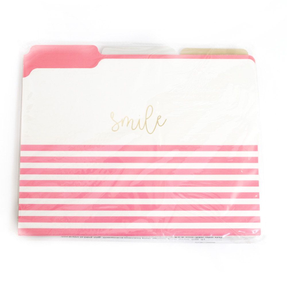 Graphique, Closeout, File Folders, Pink Print