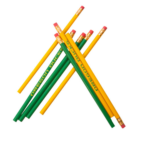 Green & Yellow U of O Pencils 8pk