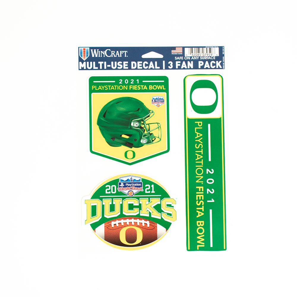 Classic Oregon O, 3 Pack, Decal, 2021, Fiesta Bowl