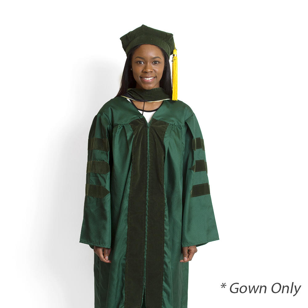 Jostens, Doctor, Keeper, Gown, Green, Gown Only