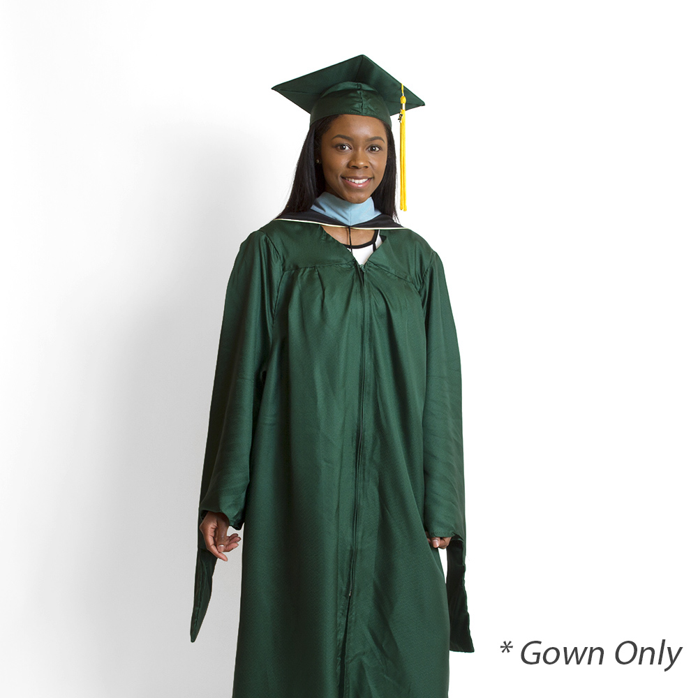 Jostens, Master, Keeper, Gown, Green, Gown Only