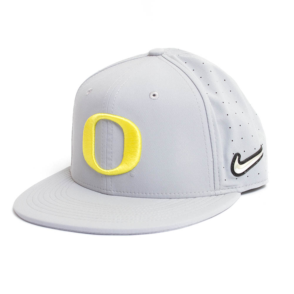 Classic Oregon O, Nike, Aero Bill, Flatbill, Baseball, Sized, Hat