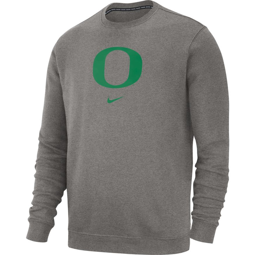 Classic Oregon O, Nike, Club Cotton, Crew, Pullover