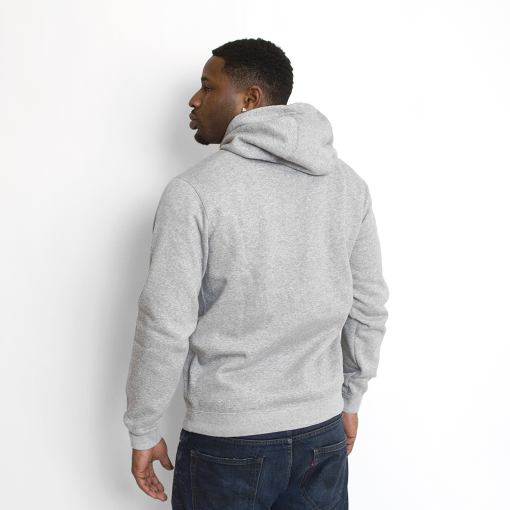 Nike Cotton-blend Club Grey Hoodie